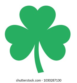 Shamrock vector icon on white background
