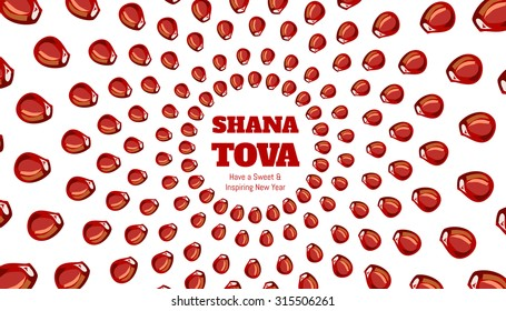 SHANA TOVA - Greeting card for inspiring and sweet new year