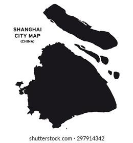 Shanghai city map vector