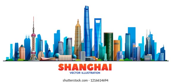 Shanghai city. Vector illustration
