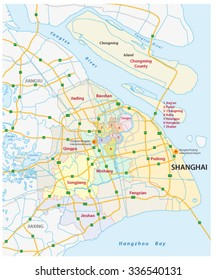 shanghai road and administrative map