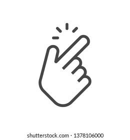 Shap finger icon. Shap finger pointer isolated on white background. Vector illustration
