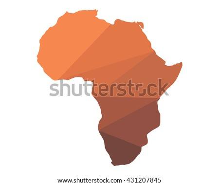 Shape Of Africa Map.Shape Africa Map Icon Image Vector Stock Vector Royalty Free