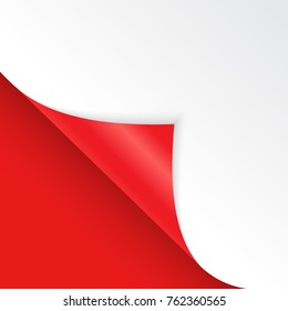 Shape of bent angle is free for filling red color. Vector Illustration. EPS10