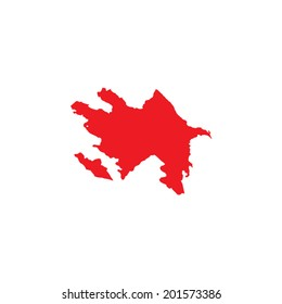 Shape of the Country of Azerbaijan