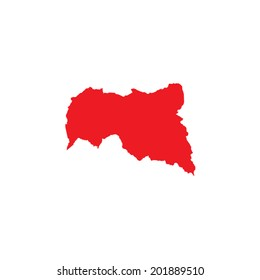 Shape of the Country of Central African Republic