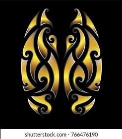 shape decor maori designs elements, tattoo maori tribal ornament, sleeve arm design, pattern vector arm hawaiian art