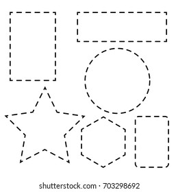 Shape with dotted line. shape