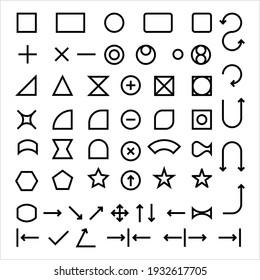 Shape Elements Icon, Basic Shape Icon Vector Art Illustration