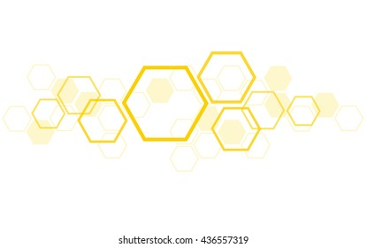 the shape of hexagon concept design abstract technology background vector EPS10