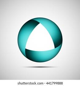 shape illustration icon. Endless band logo. Round badge. The Mobius strip circle