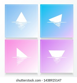 Shape reflection in water. Pastel illustration. Water effect. Vector illustration. EPS 10