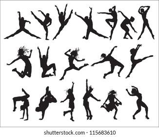 shape (silhouette dancers)