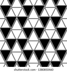 Shapes backdrop. Geometrical figures wallpaper.Triangles, rhombuses, parallelograms, trapeziums pattern. Geometric background. Digital paper, abstract. Seamless ornament