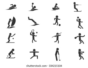 Shapes Sports symbol for web icons