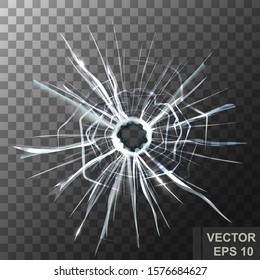 The Shard. Broken glass. Crack. Transparent. For your design.
