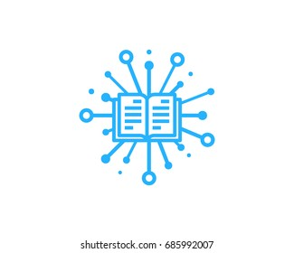 Share Book Icon Logo Design Element