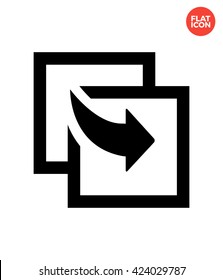 Share copy Icon Flat Style Isolated Vector Illustration