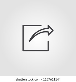 Share creative icon. Simple element illustration. Share concept symbol design from ui collection. Can be used for web, mobile and print. web design, apps, software, print.