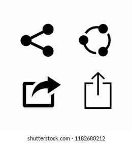 Share icon symbols vector