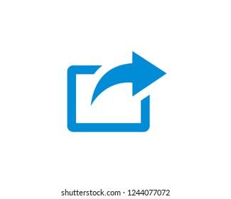 Share icon, Share symbols vector