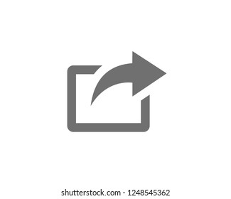 Share icon, Share symbols vector. symbol for web site Computer and mobile vector.