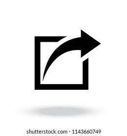 Share icon vector
