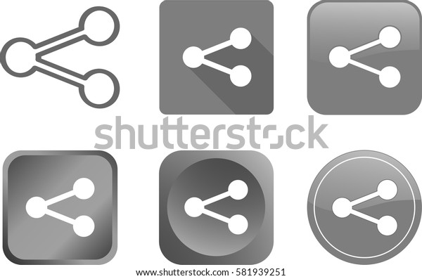 share icons and buttons - vector