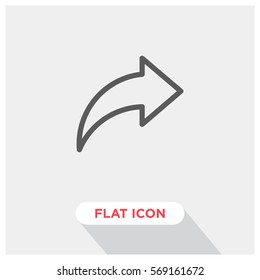 Share vector icon, sharing symbol. Modern, simple flat vector illustration for web site or mobile app