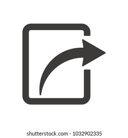 Share  vector icon for web design in a flat style