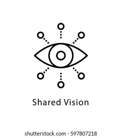 Shared Vision Vector Line Icon