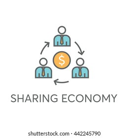 Sharing Economy Vector Icon
