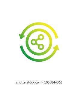 sharing vector logo, icon