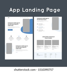 Sharing with you a landing page made for app website company . It shows different stages of creating own cloud