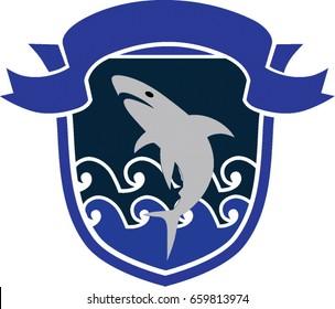 shark badge for marine club