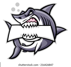 shark bite a blank sign