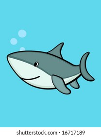 Shark Blowing Bubbles