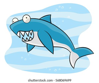 Shark cartoon drawings