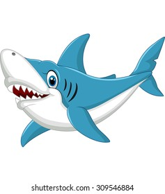 Shark cartoon illustration