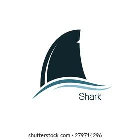 Shark dorsal fin icon