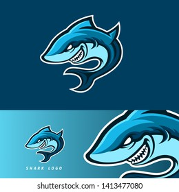 Shark esport gaming mascot logo template, suitable for your team, business, and personal branding