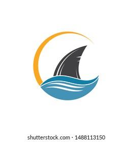 shark fin icon vector illustration design template