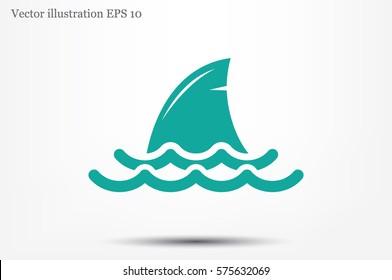 shark fin icon vector illustration.