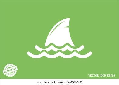 shark fin icon vector illustration eps10