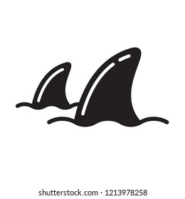 Shark fin vector dolphin icon fish whale logo sea ocean illustration graphic symbol