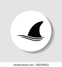 Shark fin - vector icon.