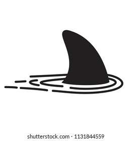 Shark fin vector icon logo dolphin character illustration symbol graphic