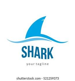 SHARK FISH SEA PREDATOR LOGO ICON SYMBOL EMBLEM TEMPLATE