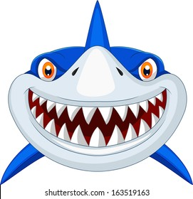 Shark head cartoon