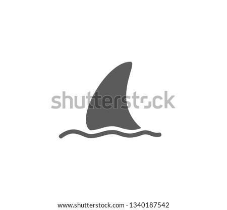 Shark Icon Shark Fin Vector Illustration Stock Vector